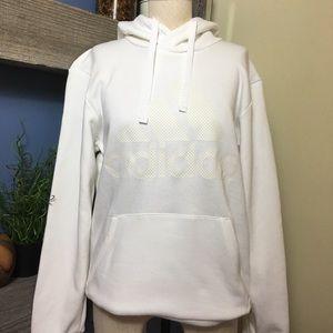 Adidas white hoodie size men's M